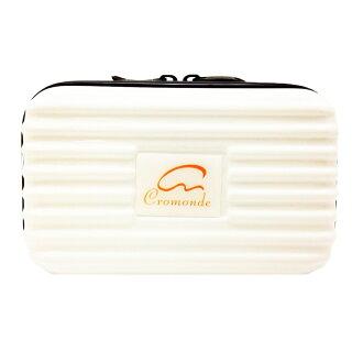【SunEasy生活館】Cromonde 克洛蒙多功能過夜包-雪地白(PC材質耐撞擊)/盥洗包/手提包/隨身包