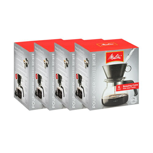 Melitta 640446 2 To 6 Cup Manual Coffee Maker (4-Pack) 6 - Cup Pour Over Coffeemaker 49772b7235d979d8cfb2d328d9724766