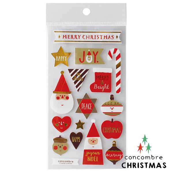 【聖誕節限定版】Decole 日本裝飾貼紙 / 聖誕卡素材 -  Concombre 聖誕老公公 ( ZXS-48101 )