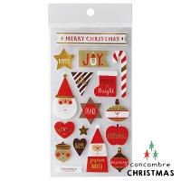 幫家裡聖誕佈置裝飾到【聖誕節限定版】日本裝飾貼紙 / 聖誕卡素材 -  Concombre 聖誕老公公 ( ZXS-48101 ) 聖誕佈置裝飾推薦 推薦聖誕交換禮物