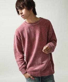 寬版針織衫粉紅色