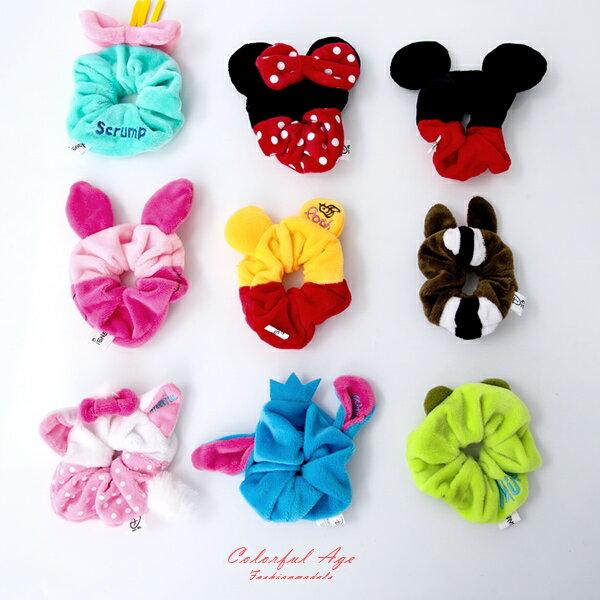 迪士尼Disney系列造型絨毛髮束【NSB19】柒彩年代