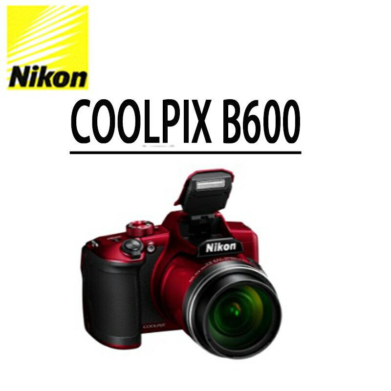 ★分期0利率★NIKON COOLPIX B600 數位相機公司貨(至8 / 31前 上網登錄送鳥類圖鑑兩本) 0