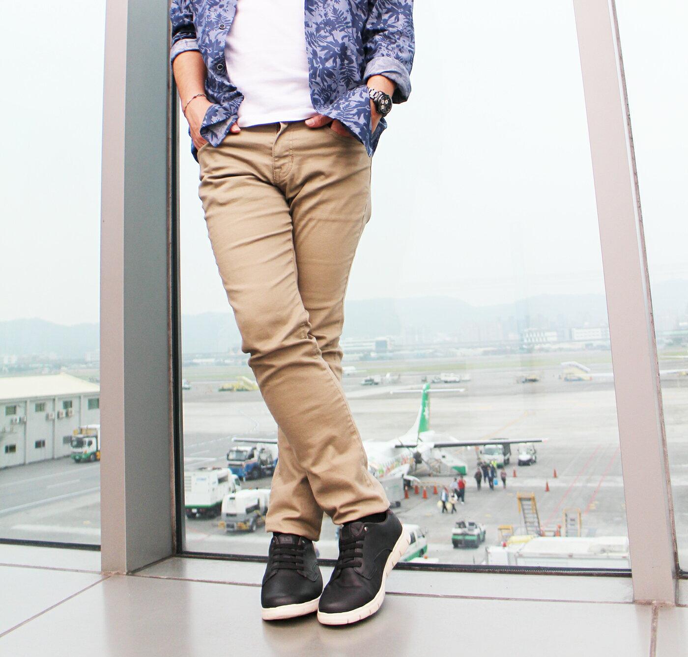 【KILDARE 8折│全店免運】KILDARE綁帶休閒鞋 黑 男 休閒慢跑 3