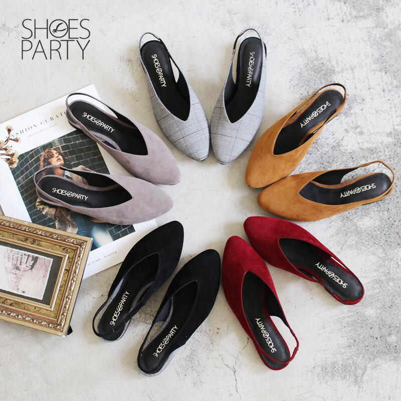 【P2-18102F】小腳效果深V平底便鞋_Shoes Party 0
