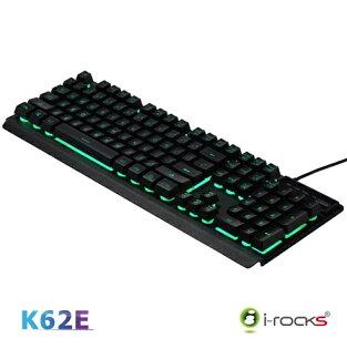 [七彩背光]K62E雙色鍵帽金屬鍵盤