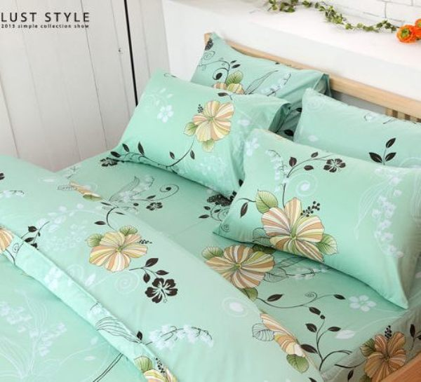 LUST生活寢具【夏日戀曲】100%純棉、精梳棉床包/枕套/被套、台灣製