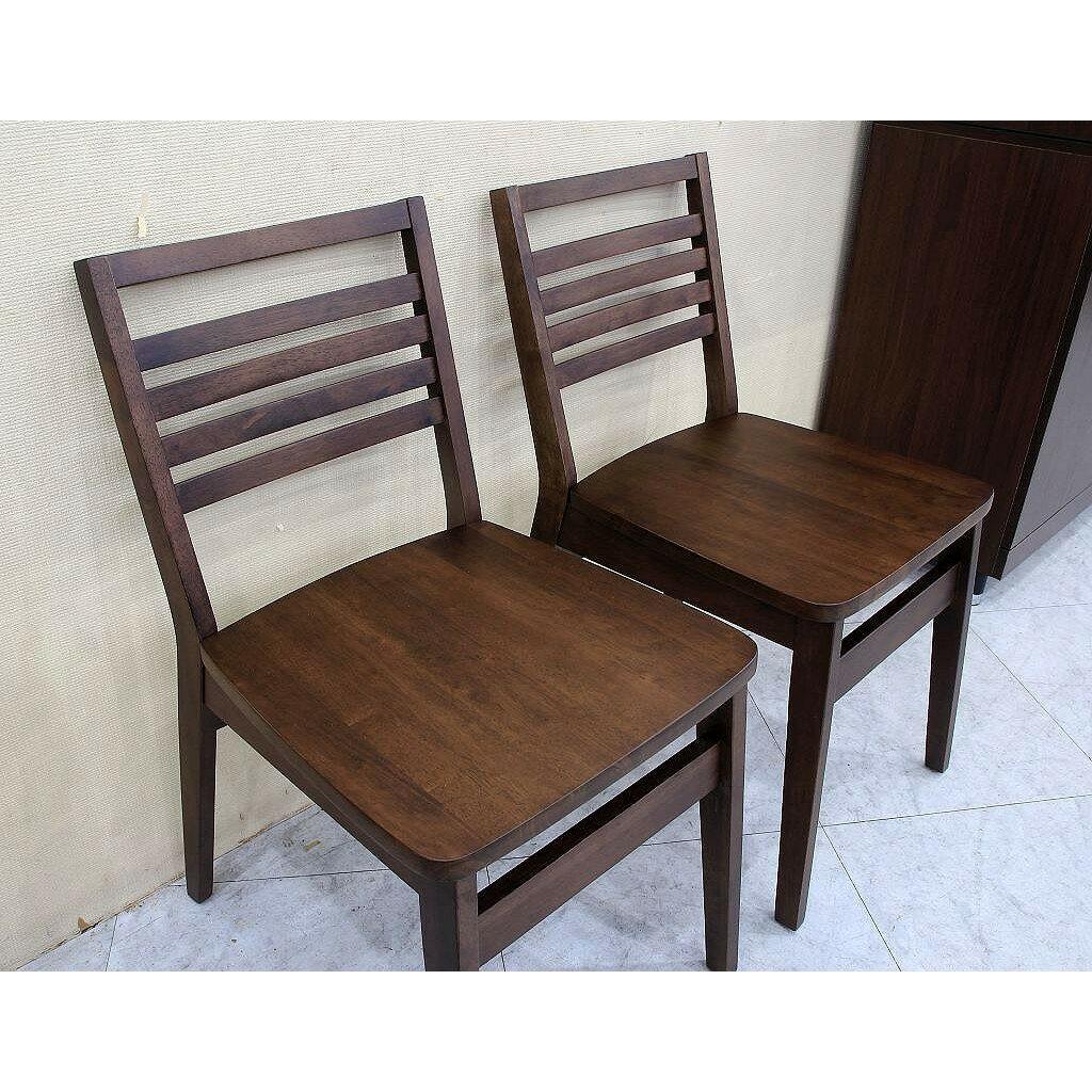 【歐風別館】夏爾胡桃實木餐椅【限量促銷款式】