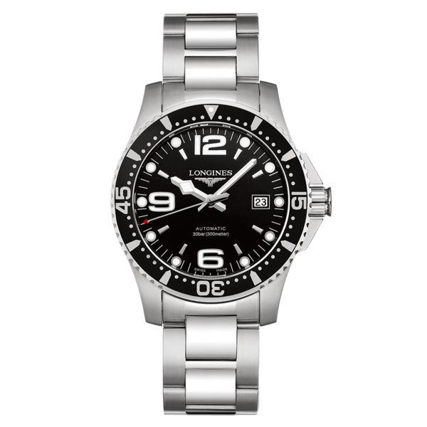 LONGINES浪琴錶L37424566HydroConquest深海征服者浪鬼機械腕錶黑面41mm