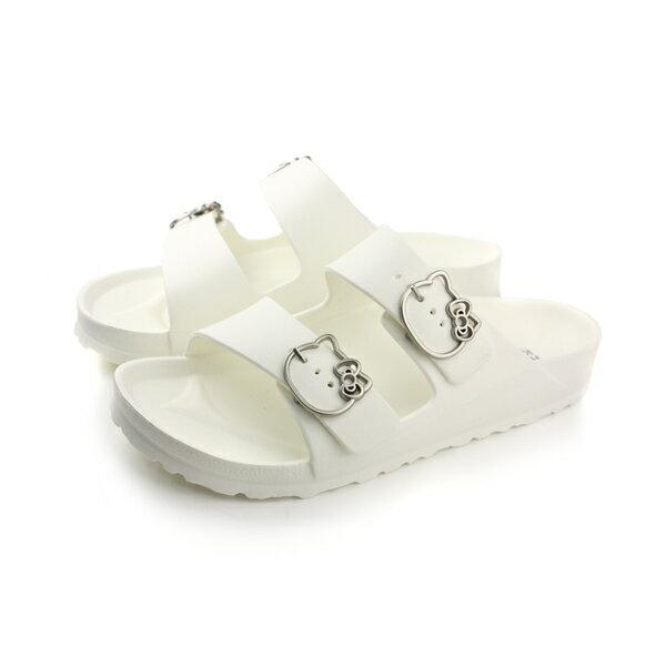 Hello kitty 拖鞋 女鞋 白色 no060