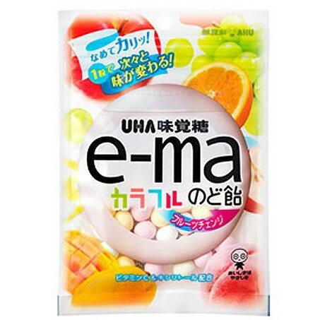 [即期良品]【UHA味覺糖】e-ma七彩水果喉糖(袋裝)(50g) *賞味期限:2017/02/28*