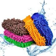 雪尼爾超微纖清潔洗車打蠟手套(一組2入隨機出貨)