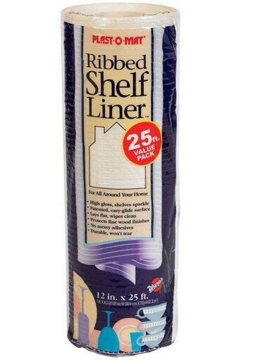 """Warp's PM120-Q Plast-O-Mat Ribbed Shelf Liner, 12"""" W x 25' L 64fa0caf0ea2320c2c1f0be94d48f1e4"""