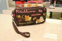 拉拉熊背包/包包/後背包推薦到=優生活=Rilakkumasan拉拉熊 懶懶熊 巧克力色長方形帆布化妝包 筆袋 收納包 雜物包就在優生活創意賣場推薦拉拉熊背包/包包/後背包