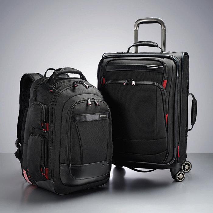 易集GO商城- 代購~SAMSONITE 21吋行李箱+背包組-背包可收納15吋筆電-695417(代購商品下標詢問現貨)