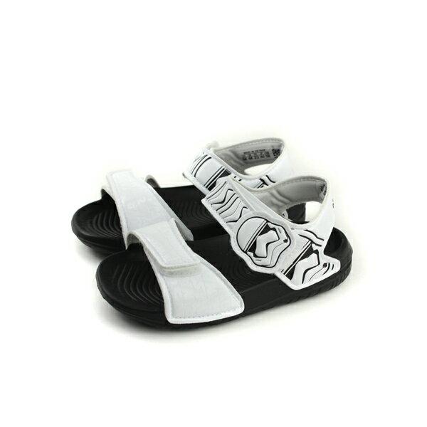 adidasStarWarsAltaSwimI星際大戰涼鞋童鞋白色魔鬼氈小童CQ0128no587