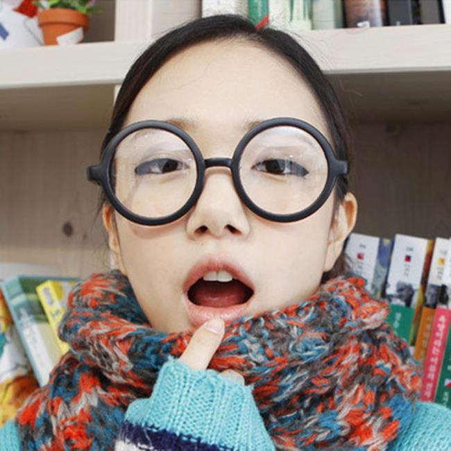 50%OFF【J021154GLS】經典復古圓形眼鏡框 阿拉蕾可愛眼鏡架 哈裡波特眼鏡無鏡片