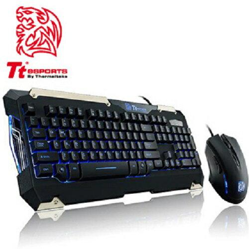 Tt eSPORTS 軍令官COMMANDER Combo電競LED藍光鍵盤滑鼠組