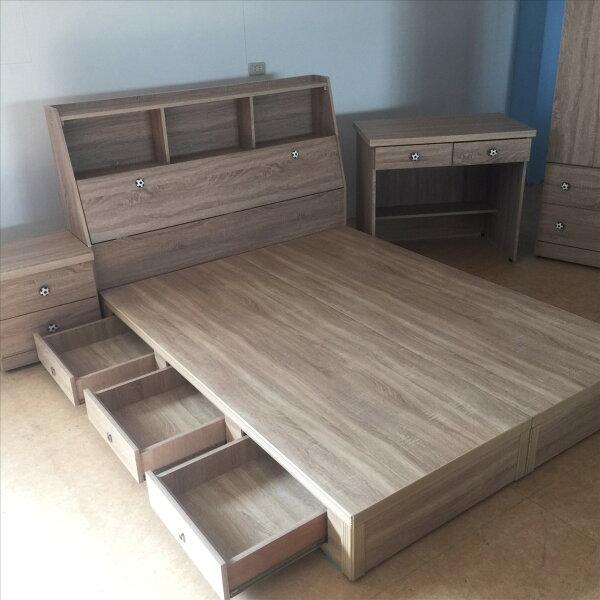 【石川家居】GH-03A原切橡木雙人收納床頭+床底裝潢愛用色(不含床墊跟其他商品)台中以北搭配車趟免運費