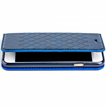 三星 Samsung Galaxy S7 輕薄菱格壓紋真皮質感皮套 側掀磁吸皮夾式/支架式皮套 1