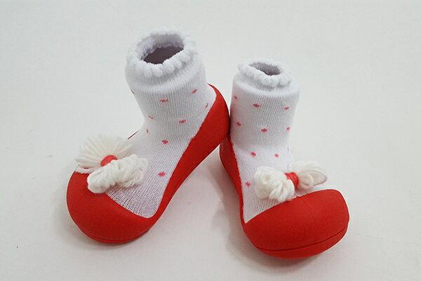 【平均1雙只要495】韓國【Attipas】快樂腳襪型學步鞋(A17RR紅點領結系列)