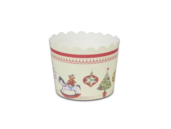 瑪芬杯、杯子蛋糕、烘烤紙杯 MF5040-07 聖誕(50pcs/包)