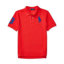 美國百分百【Ralph Lauren】Polo 衫 RL 短袖 網眼 上衣 寶藍大馬 男款青年版  XS S號 冠軍紅 B003