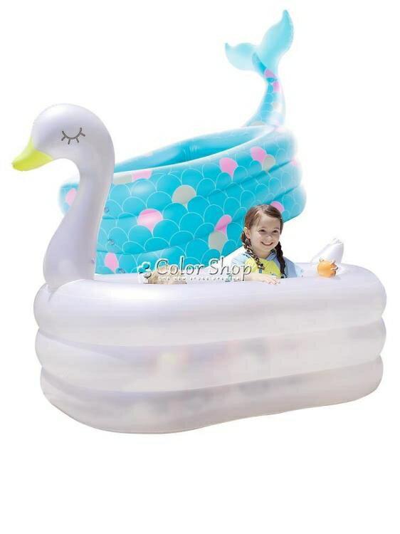 諾澳嬰兒童充氣游泳池家庭超大型海洋球池大號成人戲水池加厚家用/可開發票