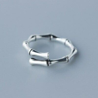 ~925純銀戒指開口戒~復古精緻竹節 情人節生日 女飾品73dt22~ ~~米蘭 ~