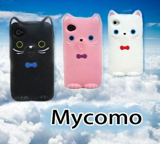 ☆蘋果 Iphone 4S│4 韩国cocoroni|超萌猫咪软胶手机壳外壳保护套 Mycomo Iphone 4S│4手機套【清倉特價】