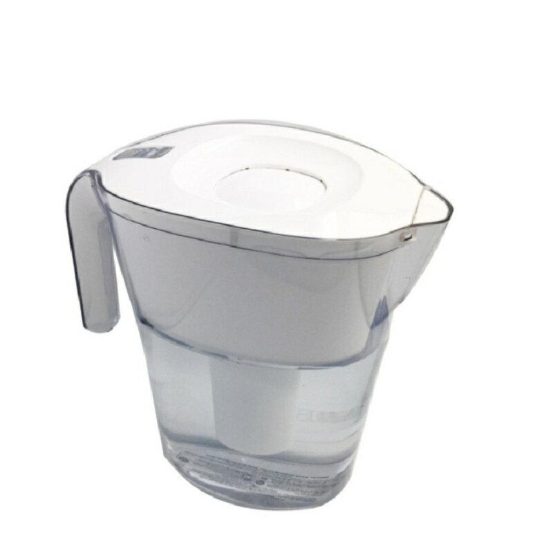 [限量10組特價,全新裸裝] Brita Lake(最高容量4L) 2.4L白色 10杯 濾水壺 (含1支8周圓形濾芯)