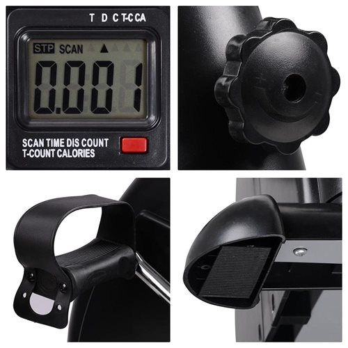 Mini Pedal Exerciser w/ LCD Display Counter Indoor Bike Arm Leg Cycling Exercise Fitness Stationary 3