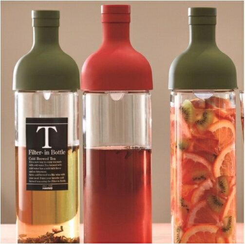 Hario 酒瓶款 750 ml 玻璃冷泡壺|森林綠|單品-外星人餐具