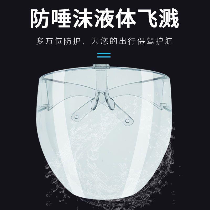 高清透明護目鏡防飛濺防飛沫防霧大框太空鏡防風騎行面屏全臉防護