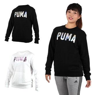 PUMA Fusion女長袖圓領衫(長T T恤 慢跑【03370702】≡排汗專家≡adc
