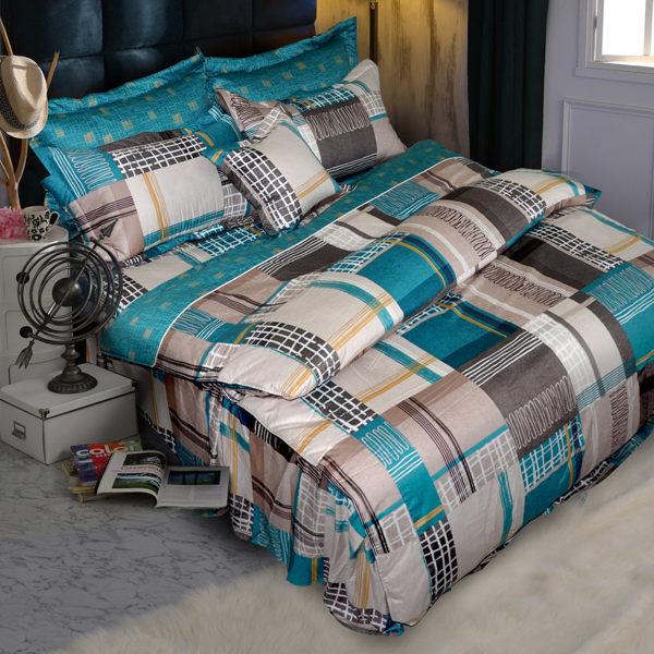 華閣床墊寢具:*華閣床墊寢具*《魅影-綠》單人2件式精梳棉床包組3.5*6.2台灣精製MIT