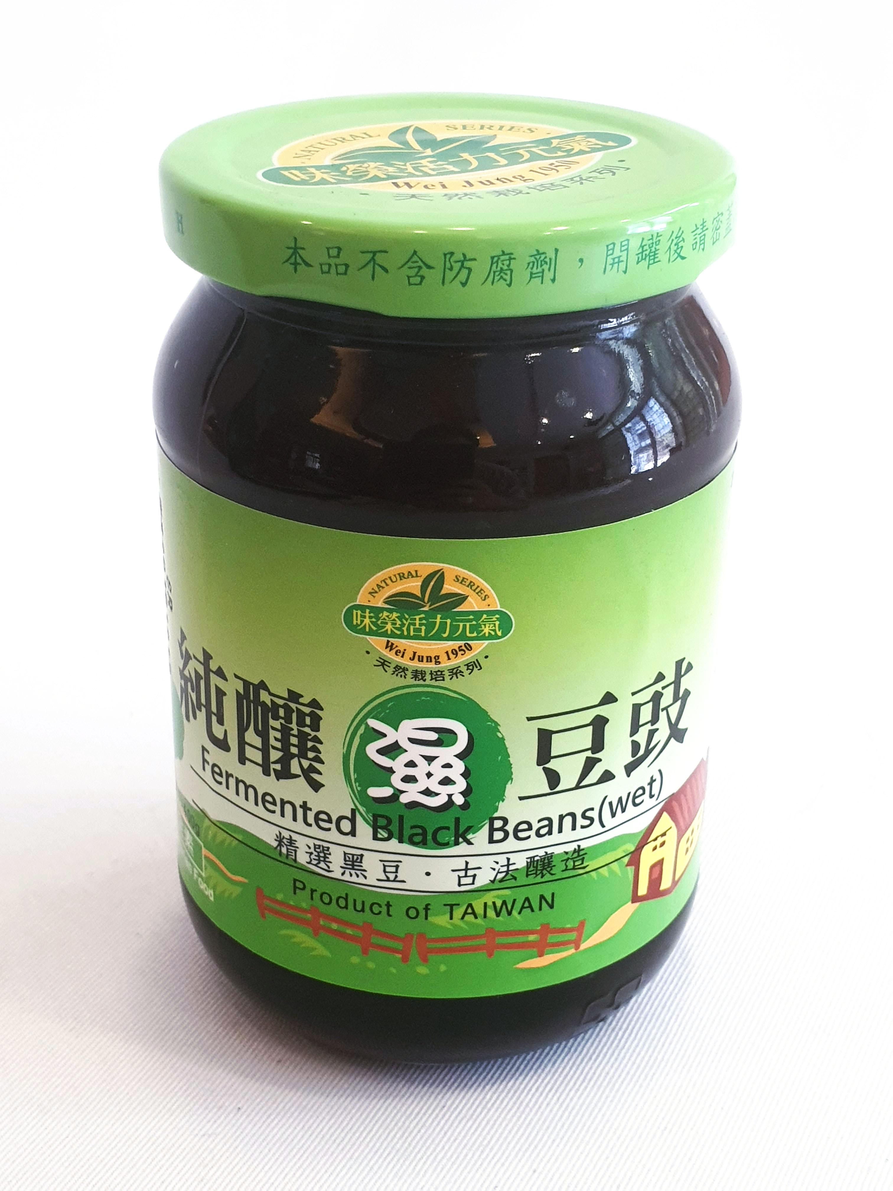 味榮 純釀濕豆豉 全素 400公克/罐 (台灣製造)
