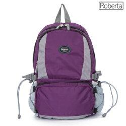【Roberta Juden】小背包背開拉鍊 輕量防潑水布料(R701-紫色)【威奇包仔通】