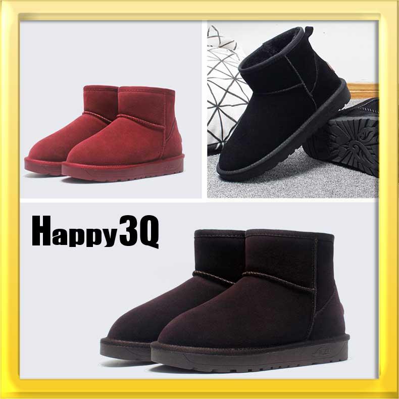 平底棉澳保暖禦寒絨毛防滑加厚雪靴~黑  棕  紅35~40~AAA0857~