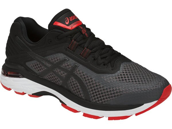 ASICSGT-20006男鞋慢跑輕量緩衝穩定支撐機能舒適黑灰紅【運動世界】T805N-9590