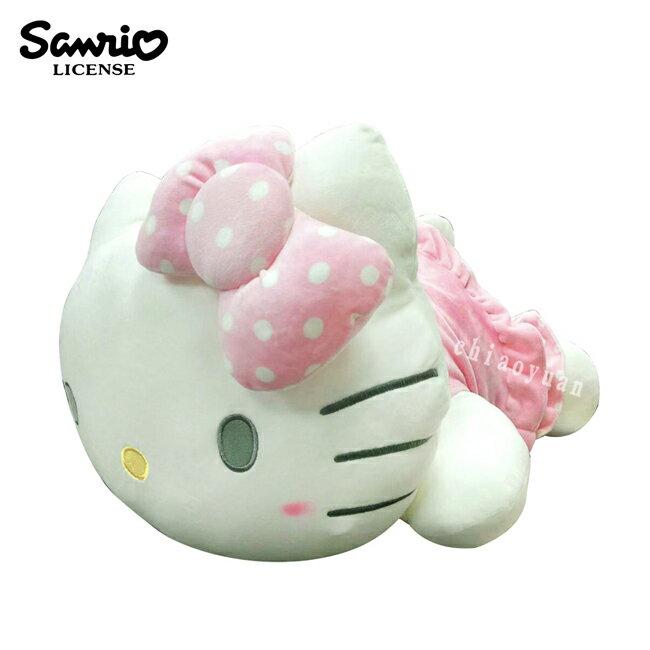 【正版授權】凱蒂貓 趴姿造型 絨毛玩偶 22吋 娃娃 玩偶 擺飾 抱枕 靠枕 Hello Kitty 三麗鷗 - 006715