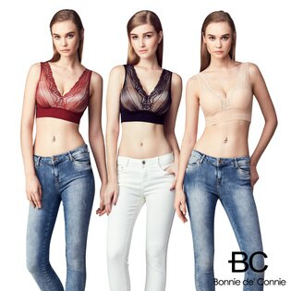 嚴購網:【BC】BC法國100%蠶絲奢華削骨馬甲內衣(3件組)