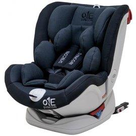【淘氣寶寶●獨家加贈Pearhead 哭笑相框】2017新款內襯包覆更好Syncon 欣康 ONE 0-12歲 ISOFIX 全歲段 360度 汽車安全座椅/汽座-灰黑