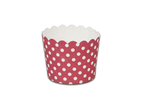 瑪芬杯、杯子蛋糕、烘烤紙杯 MF5040-03 紅底圓點(50pcs/包)