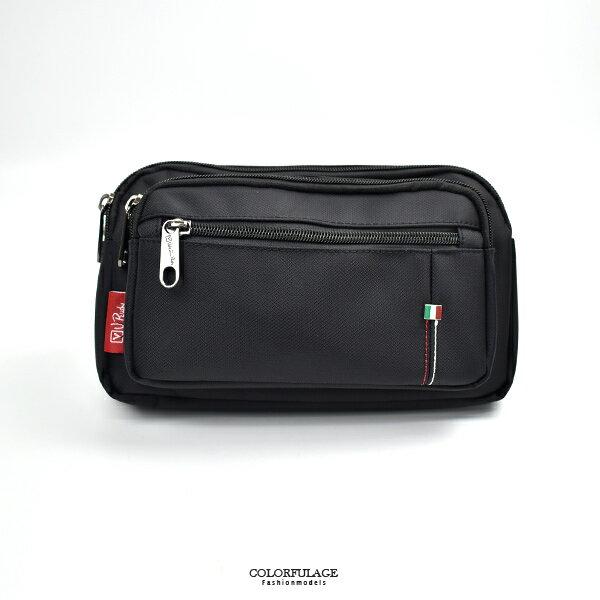 腰包 配色小標多層隨身包【NZD29】