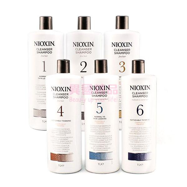 NIOXIN #1~#6 深層頭皮潔淨露(洗髮乳) / 修護霜(潤髮乳) 1000ml【特價】§異國精品§