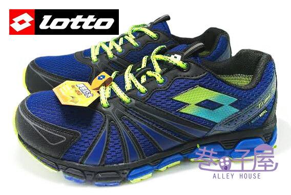 【巷子屋】義大利第一品牌-LOTTO樂得 男款防水勁跑越野運動慢跑鞋 [2096] 藍 超值價$890