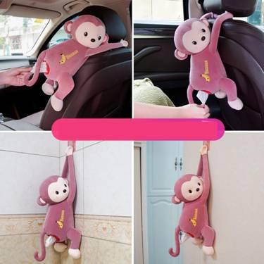 皮皮猴創意紙巾盒家車兩用車載掛式抽紙盒可愛卡通汽車內裝飾用品新品上新