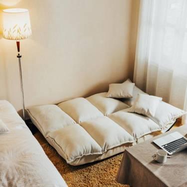 懶人沙髮單雙人榻榻米臥室小戶型折疊沙髮床網紅款可愛女孩小沙髮LX新品上新