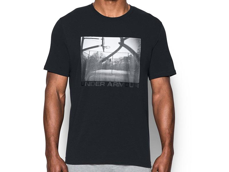 《UA出清69折》Shoestw【1290585-001】UNDER ARMOUR UA服飾 短袖 T恤 運動上衣 能量棉 黑色 籃球場照片 男生